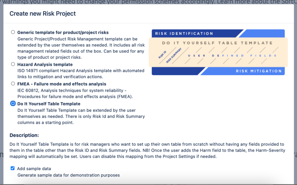 Risk Management Templates for Jira